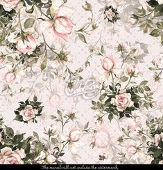 Watercolor seamless pattern bouquet of roses in Beautiful pattern for decoration and design. Exquisite pattern of watercolor sketches of the flower. Kids Wallpaper, Peel And Stick Wallpaper, Wallpaper Roll, Wallpaper Ideas, Pattern Wallpaper, Wallpaper Backgrounds, Pastel Walls, Nursery Wall Murals, Watercolor Sketch