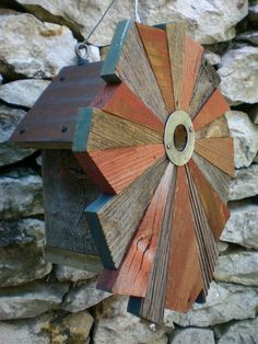 FlowerPatterned Rustic Birdhouse from Reclaimed by Roundhouseworks