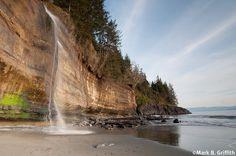 Misztikus tengerpart, Vancouver-sziget Kanada.
