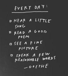 Goethe's checklist