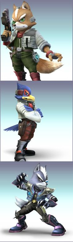 Fox, Falco & Wolf Wii Games, Super Smash Bros, Nintendo Wii, Wolf, Fictional Characters, Wolves, Fantasy Characters, Timber Wolf