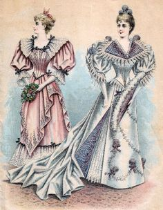 Fashion Plate, Evening Dresses: 1891.