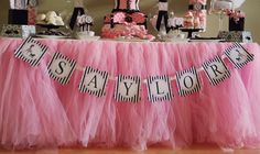 Vintage Tulle Table Skirt | Custom Tulle Party Table Skirts Reserved for by Thescarletthread1