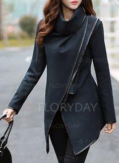 Coats & Jackets - $40.99 - Polyester Gray Khaki Dark Blue Long Long Sleeve Others Coats & Jackets (1715116032)