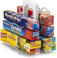 YouCopia 50173 WrapStand Kitchen Wrap Box Organizer, One Size, New Caddy Airtight Food Storage Containers, Food Containers, 4 H, Kitchen Organization, Organization Hacks, Organized Kitchen, Organizing Tips, Kitchen Wrap, Kitchen Dining