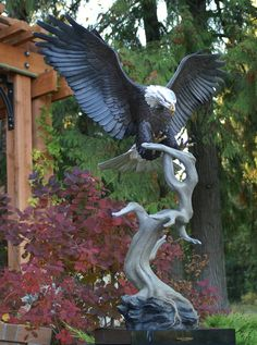Return of the Eagle - Bronze Bald Eagle Sculpture by Mike Curtis - www.mikecurtis.com