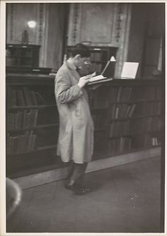 """[Reader, New York Public Library, for Vogue Article """"The Private Lives of Public Books""""]  Walker Evans (American, St. Louis, Missouri 1903–1975 New Haven, Connecticut)"""