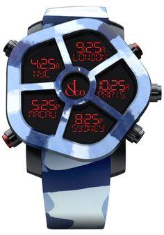 ジェイコブ ゴースト コピー JC-GST-CAMOBL 腕時計 ムーブメント クオーツ(32,768Hz;220ppm) デジタル表示 GPS機能付(日付・時刻調整) リチウムポリマー電池(3.7V 80mAh) ケース ステンレススチール(ブラックPVD) ベゼル交換可能(2時と7時のボタンを同時に押して着脱) 交換用プレーンベゼル付属 サイズ 47mm ダイヤル LCDスクリーン 7色(赤、オレンジ、黄、緑、青、紫、白)ディスプレイ 予め設定した20都市の時刻を表示