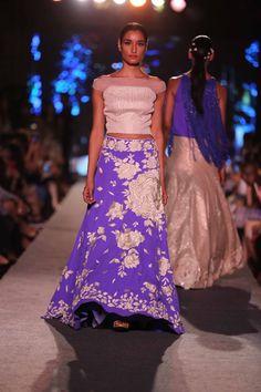 The Blue Fashion Runway Collection by Manish Malhotra at Lakme Fashion Week Summer Resort 2015. #JabongLFW