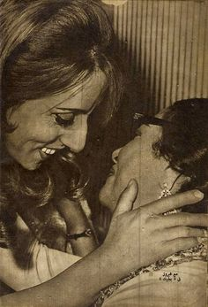 Fairuz + Um Kalthoum .. no words could express my love for this picture. <3