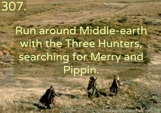 LoTR Bucket list. Except I'd collapse of exhaustion, and then Strider would have to carry me...wait..is that a bad thing?
