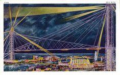 https://flic.kr/p/EKbAcP | Vintage 1934 Chicago World's Fair Postcard, A Century Of Progress - The Sky Ride, Printed In USA