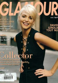 Nadja Auermann Cover Glamour France - May 1994