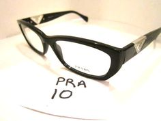 Prada Eyeglass Frames, in Black, VPR 10o (PRA-10.1) #Prada