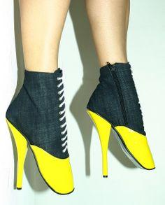 Yellow-gray jeans-lack ballet boot http://www.obuwie-erotyczne.pl/item.html/id/4031636058