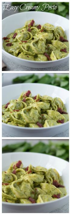 Easy Creamy Pesto with only a few ingredients needed and takes minutes to make.