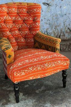 Sari upholstered chair at Ruby Star Traders