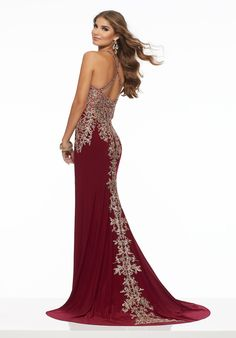 cee6e3f9c21 Jersey with Beaded Embroidery Available Now . . .  prom  promdress   promdresses