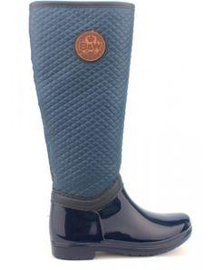 Modré prošívané dámské holinky Break&Walk Rubber Rain Boots, Walking, Shoes, Zapatos, Shoes Outlet, Walks, Shoe, Footwear, Hiking