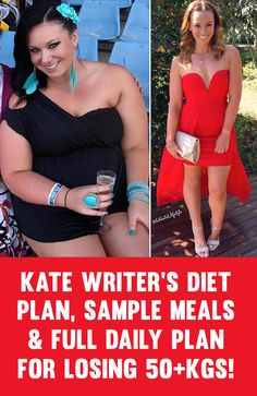 Kate Writer's Sample Meals & Daily Diet Plan For Losing 50KG Of BodyFat!