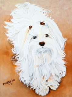 CUSTOM PET PORTRAIT 12 x 16 painted on canvas from your photo. $199.00, via Etsy.