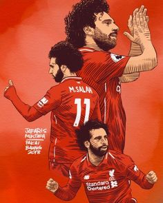 Baung Vintage — The Hat-Trick. Salah Liverpool, Liverpool Players, Liverpool Football Club, Liverpool Fc Wallpaper, Liverpool Wallpapers, Cristiano Ronaldo Lionel Messi, Messi And Ronaldo, Best Football Players, Football Art