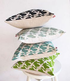 Cloud Bird cushion covers - patterned cushions