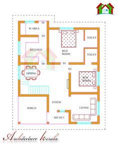 Kerala House Plans with Estimate 20 Lakhs 1500 sq.ft - Kerala House Plans with Estimate 20 Lakhs 1500 sq. Low Cost House Plans, 2bhk House Plan, Model House Plan, Duplex House Plans, Bedroom House Plans, Dream House Plans, Small House Plans, House Floor Plans, Home Design Plans