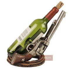 Porta vinho Country Importado Duas pistolas Ferradura e Base de Corda Porta  garrafa de vinho em 8598db3b85d