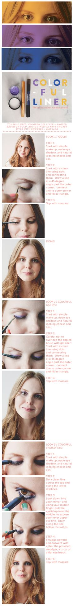 COLORFUL EYELINER BY ERICA DAVIDSON - The Kitchy Kitchen