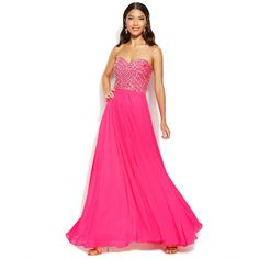 Xscape Embellished Lace-Up Strapless Gown and other apparel, accessories and trends. Browse and shop related looks.