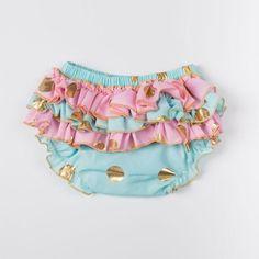Ruffle Bum Polka Dot Swim Diapers