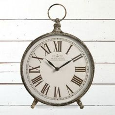 Pocket Watch Vintage Inspired Table Clock