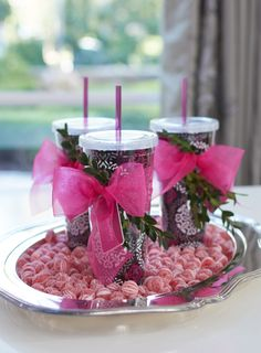 Gift your guests! (Featuring our Tumbler in Canterberry Magenta) | Setting the holiday table: Canterberry Magenta