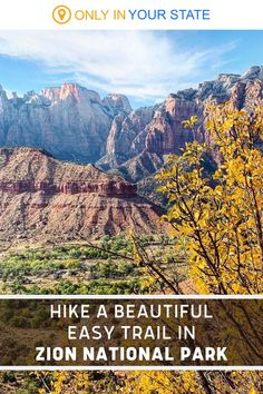 If you're looking for an easy hike in Zion National Park, the beautiful Watchman Trail is it. Hike a total of 3.1 miles through a scenic desert landscape with incredible mountain views! Add this Utah trail to your travel bucket list. It's even family friendly. Zion National Park, National Parks, Beautiful Places In America, Zion Canyon, Utah Usa, Hidden Beach, Desert Landscape, Another World, Monuments
