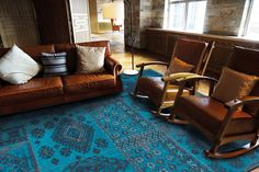 Bobohemian - Blue Lagoon 8906. Louis de Poortere Rugs - Bobohemian Range. Stunning tribal kilim styles and subtle floral designs - perfect large rugs for living rooms and bedrooms. Free UK delivery. A cocktail of bourgeois and bohemian.