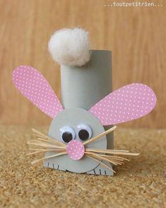 Toalettrullar! Så himla roligt, billigt, miljövänligt och kreativt. Finns många fördelar med att skapa från toalettrullar. Denna kanin va…