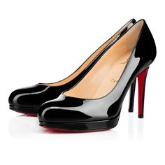 "Sitting at a perfect 100mm and finished with a thin platform, ""New Simple Pump"" is for the lady on the go, providing the unmistakable Louboutin allure to each and every step she takes."
