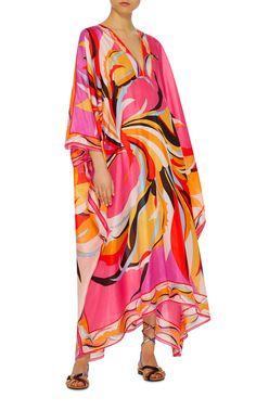 Printed Silk Kaftan by EMILIO PUCCI Now Available on Moda Operandi