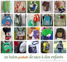 20 tutos gratuits de sac à dos enfant |La cour des petits