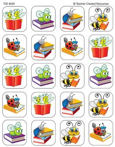 Teacher Created Resources Book Bug Stickers, Multi Color 120 Self-Adhesive stickers per pack. Great for incentives and decorations. Craft Kits For Kids, Craft Activities For Kids, Book Activities, Bon Point, Learn Hebrew, Teacher Created Resources, Craft Stickers, Easy Art Projects, Bullet Journal Art