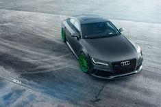 Audi RS7 Drops The Mic On Matte Green Custom Wheels Bmw M5, Forged Wheels, Custom Wheels, Audi Rs7, Motor Car, Luxury Cars, Porsche, Automobile, Vehicles