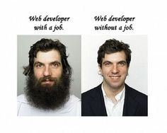 web developer with / without a job #website #developer  #funny #happy