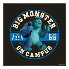 Shop Big Monster on Campus Poster created by disneypixarmonsters. Cool Monsters, Ipad Sleeve, Iphone 5 Cases, Smurfs, Cute Pictures, Baseball Cards, Cool Stuff, Reading, Big