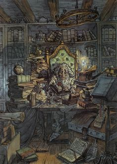 PJ Lynch Gallery: The Old Man in the Library