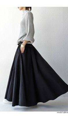 Pin by Bronwyn Rothquel on Style in 2020 Fashion Wear, Skirt Fashion, Fashion Dresses, Womens Fashion, Japanese Fashion, Korean Fashion, Autumn Fashion Women Fall Outfits, Modest Fashion Hijab, Long Skirt Outfits