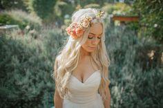 flower crown cali bride