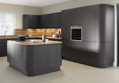 Matt Anthracite Kitchen Doors are ideal for any kitchen design. View the Kitchen Warehouse Anthracite Kitchen range online today. Kitchen Cupboard Doors, Kitchen Units, New Kitchen, Kitchen Cabinets, Kitchen Ideas, Kitchen Reno, Kitchen Island, Anthracite Kitchen, Manchester
