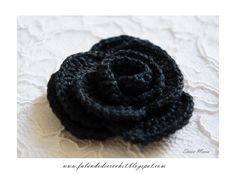 Crochet Flower from Falando de Crochet