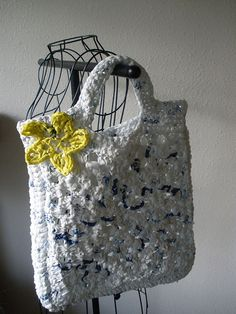 Granny bag made out of plastic bags
